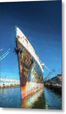 As She Rusts Away Metal Print by Marvin Spates