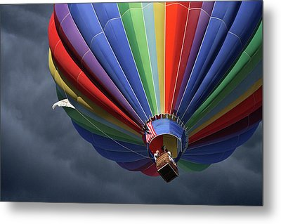 Metal Print featuring the photograph Ascending To The Storm by Marie Leslie
