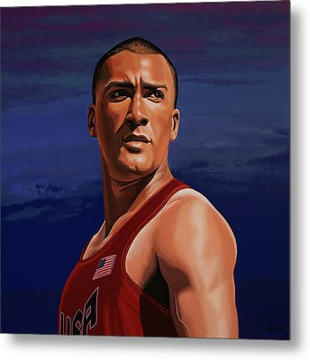 Ashton Eaton Painting Metal Print by Paul Meijering