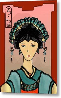 Asian Princess Metal Print by LD Gonzalez