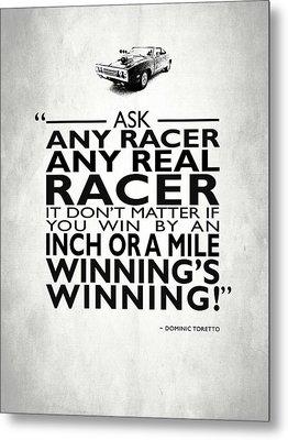 Ask Any Racer Metal Print by Mark Rogan