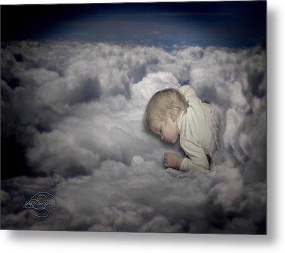 Asleep In The Clouds Metal Print