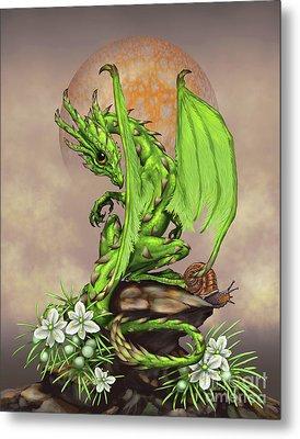 Asparagus Dragon Metal Print by Stanley Morrison