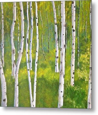 Aspen Forest Metal Print by Heather Matthews