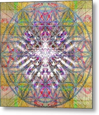 Assent From The Womb In The Flower Tree Of Life Metal Print by Christopher Pringer
