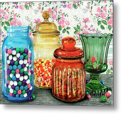 Assortment Of Color And Taste	Color Pencil On Paper Metal Print