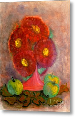 Asters The Flowers Of The Fall Metal Print
