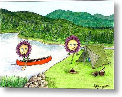 Astors Camping Metal Print by Kathleen Walker