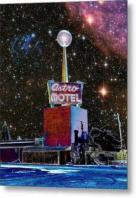 Metal Print featuring the photograph Astro Motel by Jim and Emily Bush