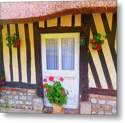 At Home In Normandy Metal Print