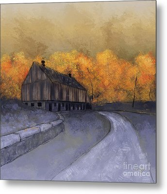 Metal Print featuring the digital art At Just Dawn by Lois Bryan