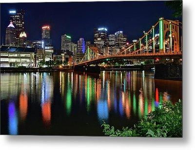 At Rivers Edge In Pittsburgh Metal Print