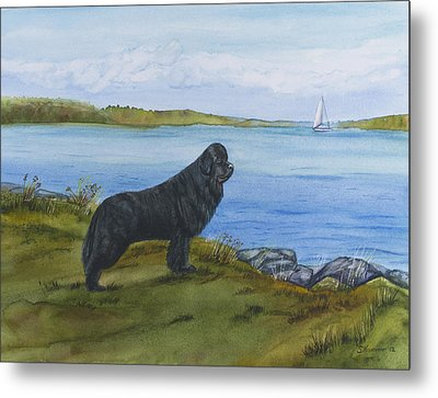 Metal Print featuring the painting At Seneca Lake by Sharon Nummer