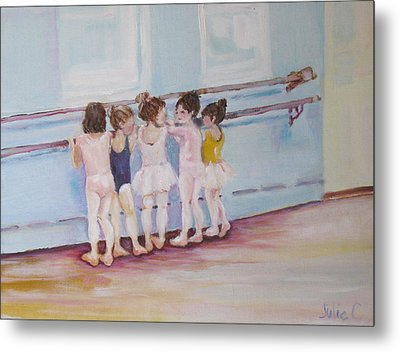 Metal Print featuring the painting At The Barre by Julie Todd-Cundiff