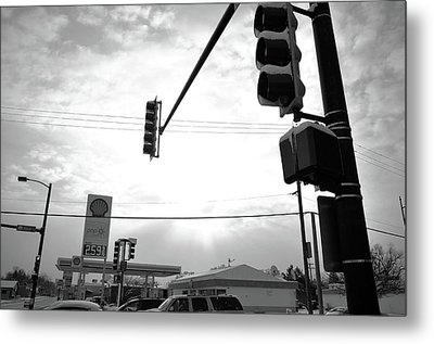 At The Crossing Metal Print by Jeanette O'Toole