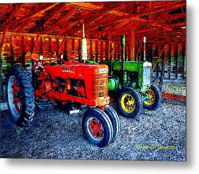 At The Ready Metal Print by Christine S Zipps