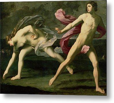Atalanta And Hippomenes Metal Print by Guido Reni