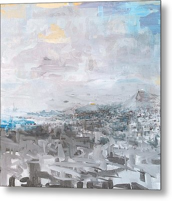 Athens Is Waking Up 01  Metal Print by Jelena Ignjatovic