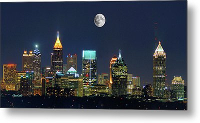Atlanta Moon Metal Print