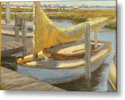 Atlantic City Cat Boat Metal Print by Marianne Kuhn