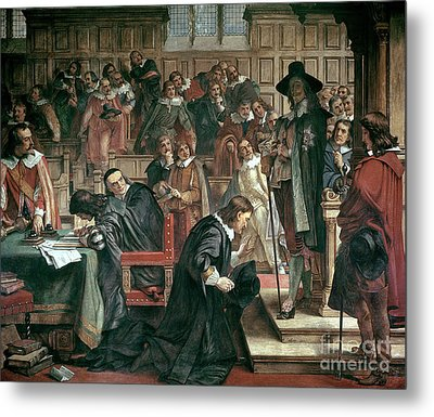 Attempted Arrest Of 5 Members Of The House Of Commons By Charles I Metal Print by Charles West Cope
