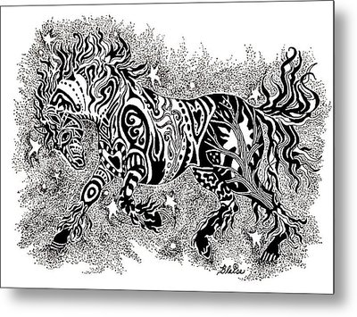 Attitude In Motion Metal Print by Yvonne Blasy