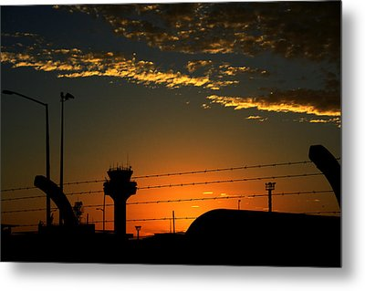 Auckland Airport Sunrise Metal Print by Chris Hung