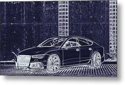 Audi Rs7 Vossen  Metal Print