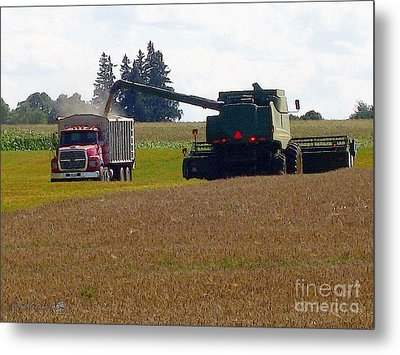 August Harvest Metal Print by J McCombie