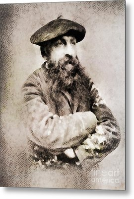 Auguste Rodin, Infamous Artist Metal Print by John Springfield