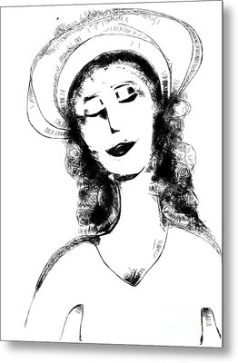 Auntie Mame Metal Print by Elaine Lanoue