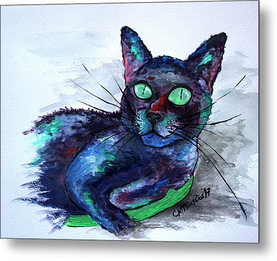 Aunt's Beautiful Companion, Ms. Biscuit Metal Print