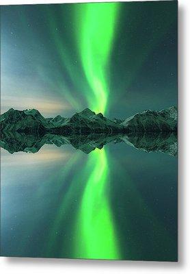 Aurora Powersurge Metal Print by Tor-Ivar Naess