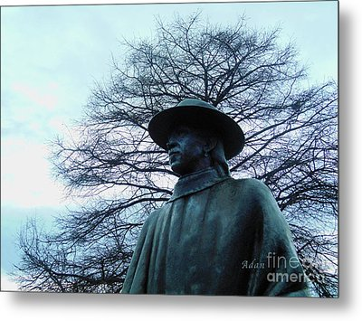 Austin Hike And Bike Trail - Iconic Austin Statue Stevie Ray Vaughn - Two Metal Print
