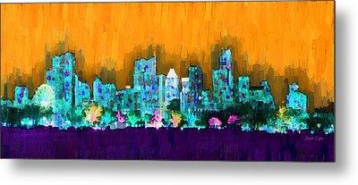 Austin Skyline 157 - Pa Metal Print by Leonardo Digenio