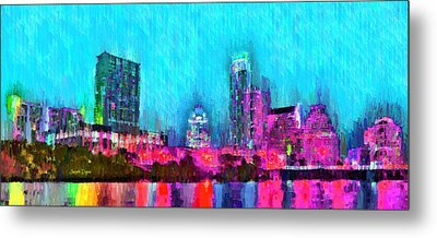 Austin Texas Skyline 103 - Da Metal Print by Leonardo Digenio