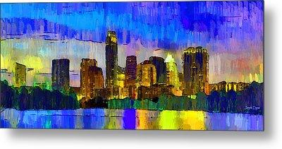 Austin Texas Skyline 204 - Pa Metal Print by Leonardo Digenio
