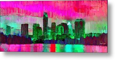 Austin Texas Skyline 206 - Pa Metal Print by Leonardo Digenio