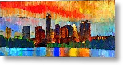 Austin Texas Skyline 207 - Da Metal Print by Leonardo Digenio