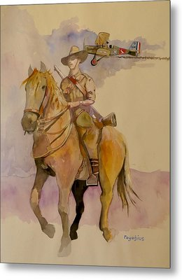 Metal Print featuring the painting Australian Light Horse Regiment. by Ray Agius