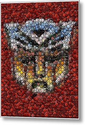 Autobot Transformer Bottle Cap Mosaic Metal Print