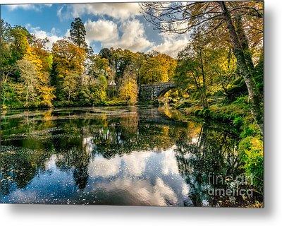 Autumn Bridge Metal Print by Adrian Evans