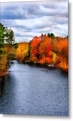 Autumn Channel Metal Print