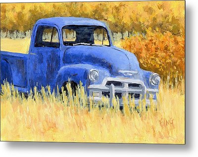 Autumn Chevy Metal Print by David King
