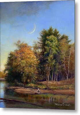 Metal Print featuring the painting Autumn Crescent by Wayne Daniels