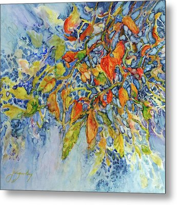 Metal Print featuring the painting Autumn Lace by Joanne Smoley