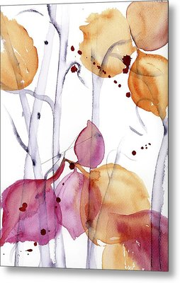 Metal Print featuring the painting Autumn Leaves by Dawn Derman
