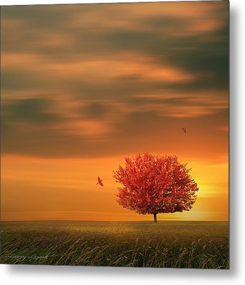 Autumn Metal Print by Lourry Legarde