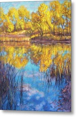 Autumn On Wetlands Metal Print by Fiona Craig