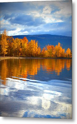Autumn Reflections At Sunoka Metal Print by Tara Turner